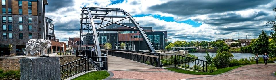 Pedestrian bridge at Pablo Center